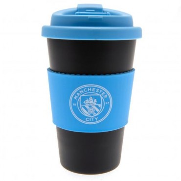 Manchester City FC Silicone Grip Travel Mug