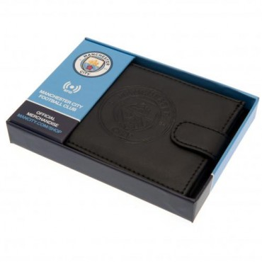 Man City FC RFID Anti Fraud Leather Wallet