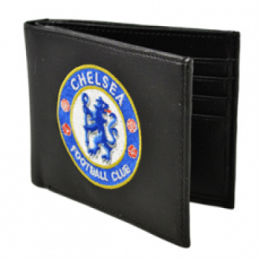 Chelsea FC Crest Embroidered PU Leather Wallet