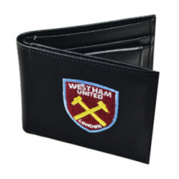 West Ham United FC Crest Embroidered PU Leather Wallet