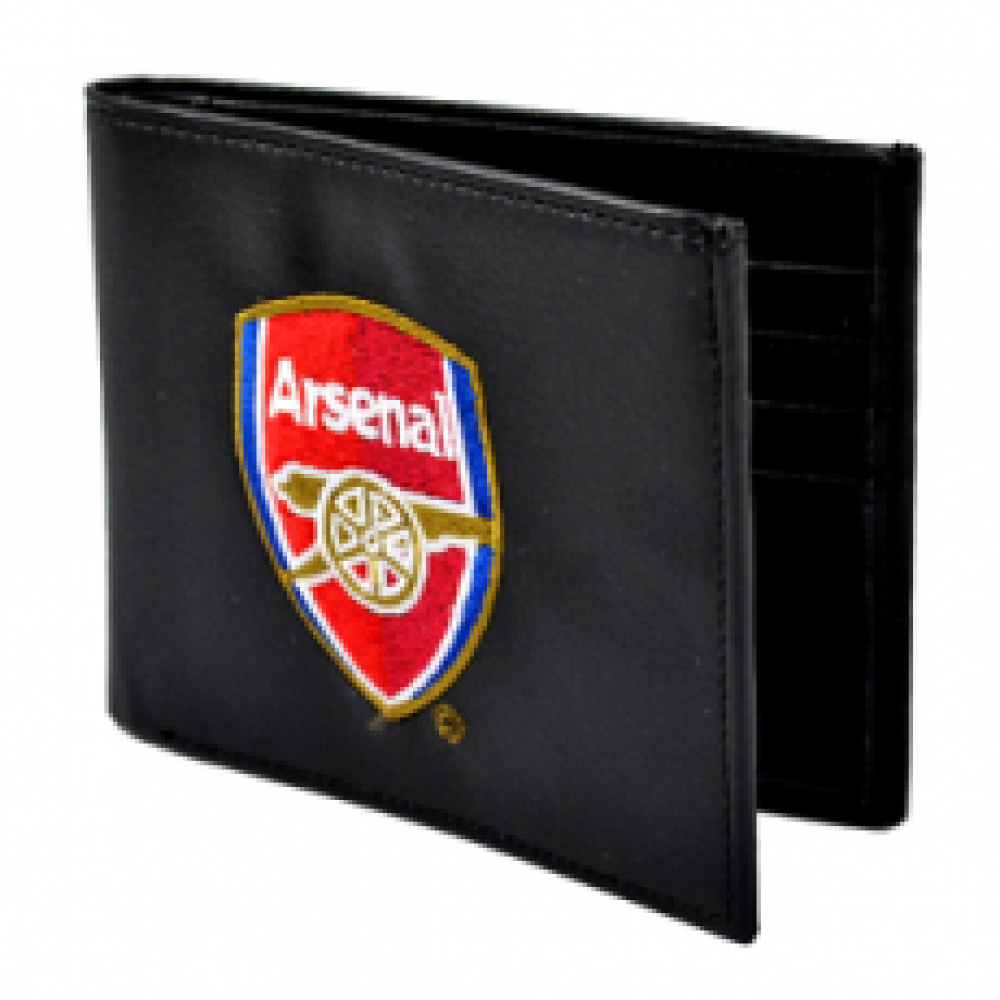 Arsenal FC Crest Embroidered PU Leather Wallet