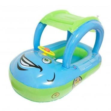 Inflatable Sunshade Car Seat Boat Baby Kids Float Toddler Swimming Pool Car Ring