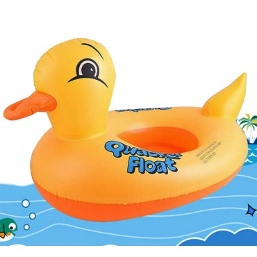 Inflatable Duck Swimming Ring Baby Seat Float Boat Beach Sun Shade Water Pool