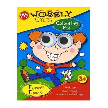 My Wobbley Eyes Kids Colouring Pad