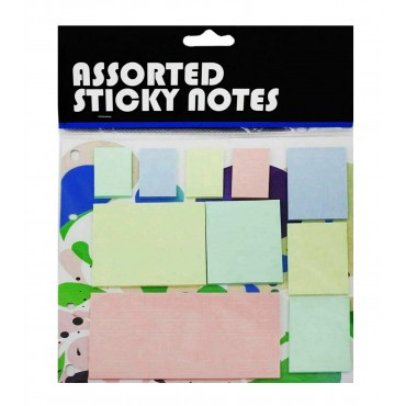 Pastel Colour Assorted Sticky Notes - Mixed Sizes and Colours