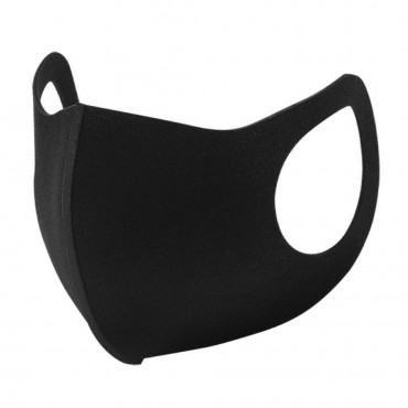 10pk Washable Re-usuable Black Face Mask - Adult / Unisex
